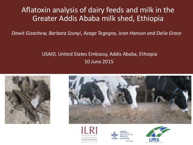 Aflatoxin analysis of dairy feeds and milk in the Greater Addis Ababa milk shed, Ethiopia Dawit Gizachew, Barbara Szonyi, ...