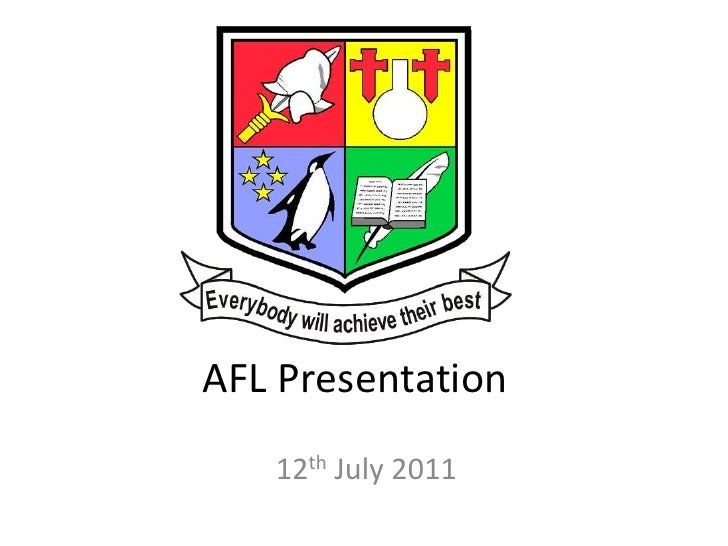 AFL Presentation   12th July 2011