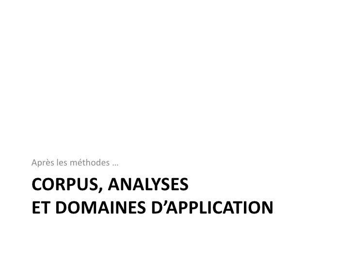 Corpus et méthode<br />3<br />Sélection d'articles JADT  (Journées internationales d'Analyse statistique des Données Textu...