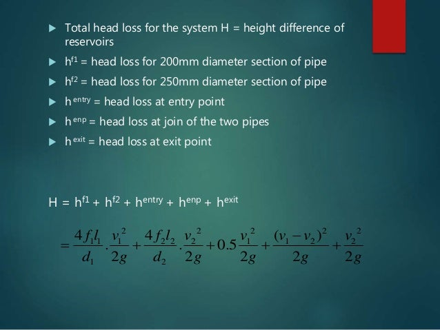 flow in pipe series and parallel