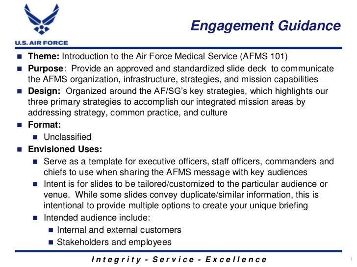 Introduction to the air force medical service afms engagement guidance theme introduction to the air force medical service afms 101 toneelgroepblik Images