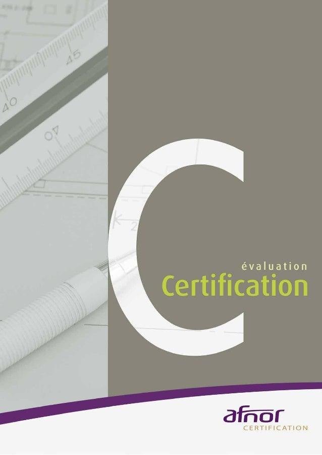 AFNOR Certification - Description