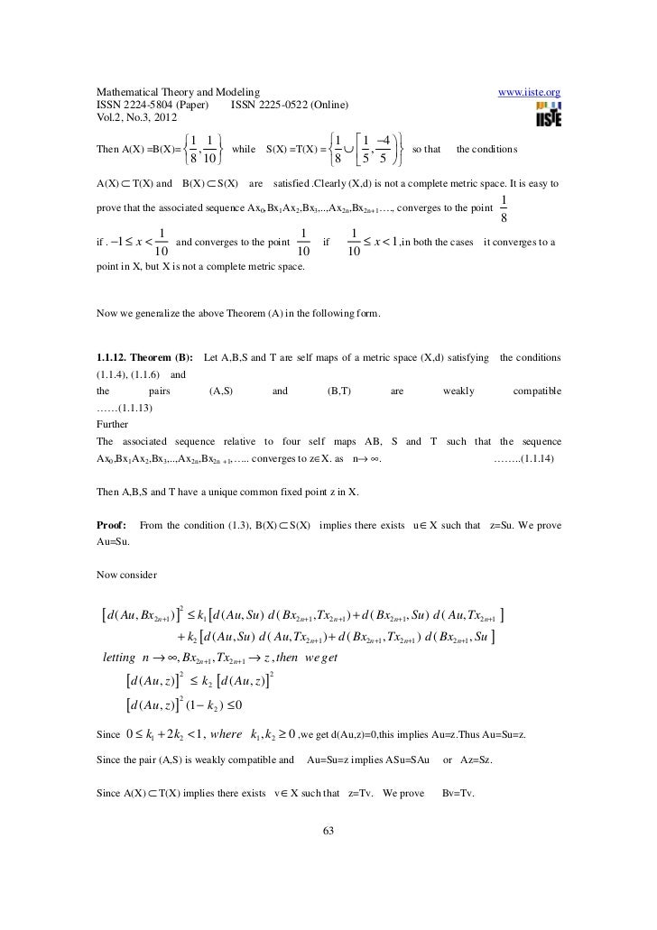 A Focus On A Common Fixed Point Theorem Using Weakly