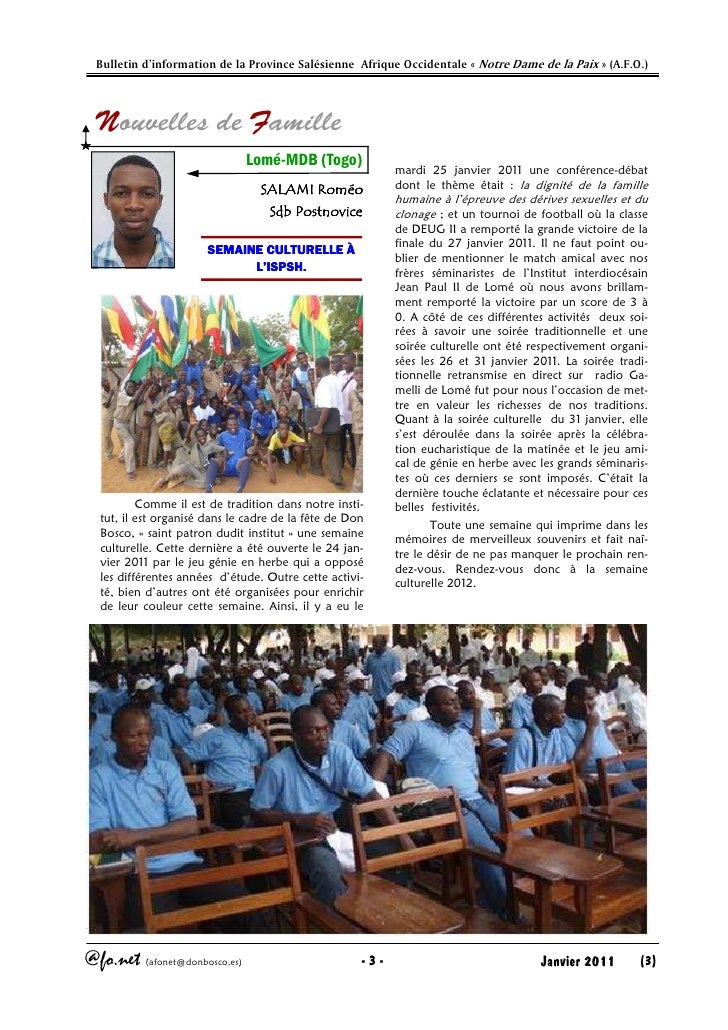 Afonet n°110 janvir 2011 Slide 3
