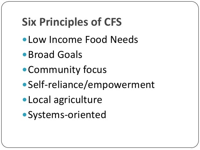 A Food Systems Approach To Healthy Food And Agriculture Policy
