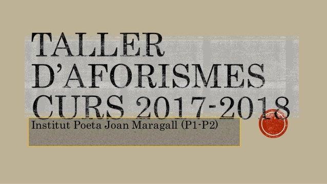 Institut Poeta Joan Maragall (P1-P2)