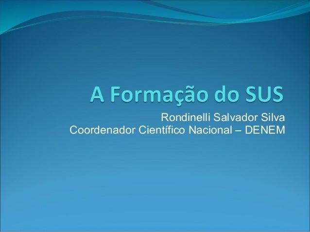 Rondinelli Salvador Silva Coordenador Científico Nacional – DENEM