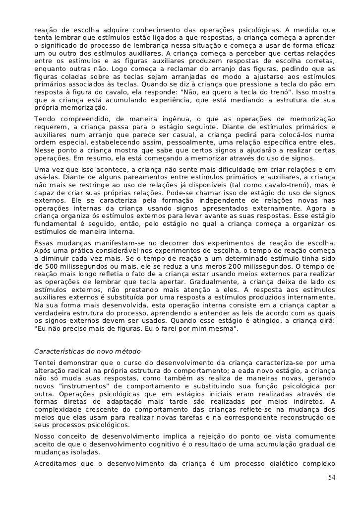 A formacao social da mente - Vygotsky