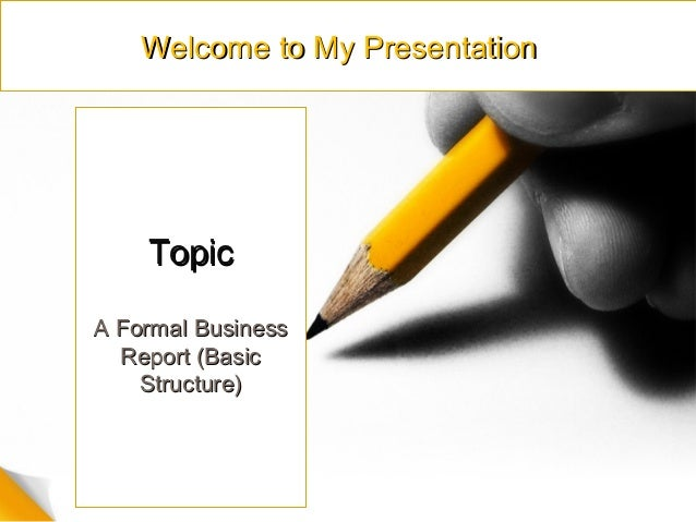 writing a formal business report