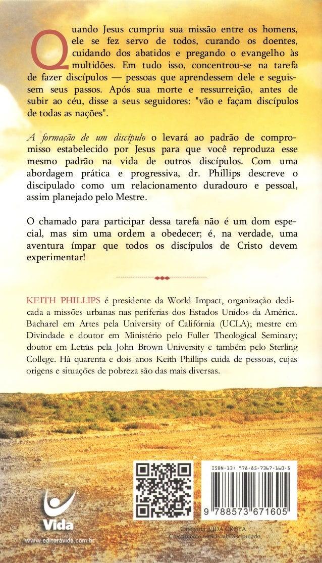 A formação de um discipulo  keith phillips.