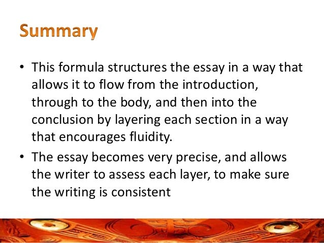 a formula for structuring and layering an essay  11 • this formula structures the essay