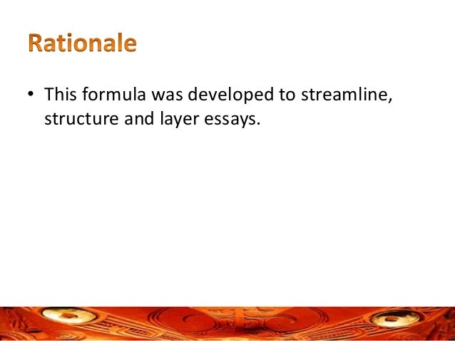 a formula for structuring and layering an essay dr rawiri waretini karena 2 bull this formula