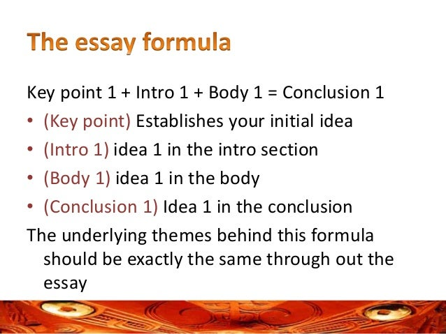 formula for essay writing