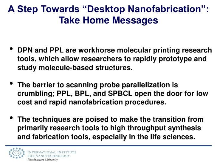 "Chemist\'s Approach to Nanofabrication: Towards a ""Desktop Fab"""