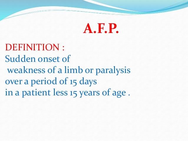 AFP Surveillance to End Polio Slide 2
