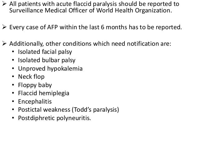 acute flaccid paralysis and surveillance, Skeleton