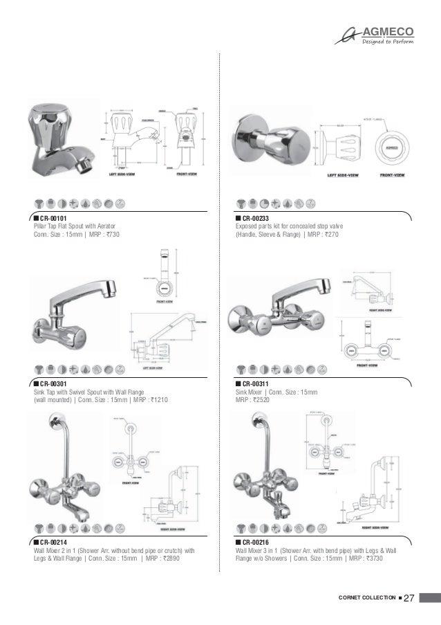 AGMECO Bath Fittings Catalog Cum Price List 2016