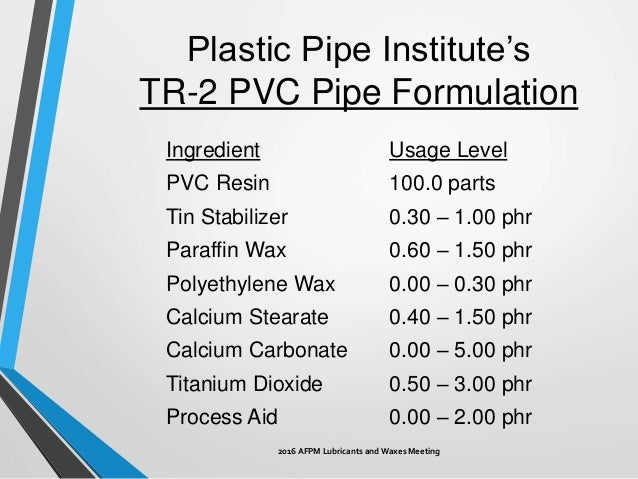 ... 17. Typical Rigid PVC ...  sc 1 st  SlideShare & Function of Waxes in PVC Pipe Extrusion
