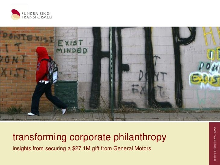 WWW.TAMMYZONKER.COMtransforming corporate philanthropyinsights from securing a $27.1M gift from General Motors