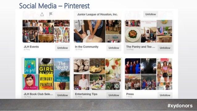Social Media – Pinterest #xydonors