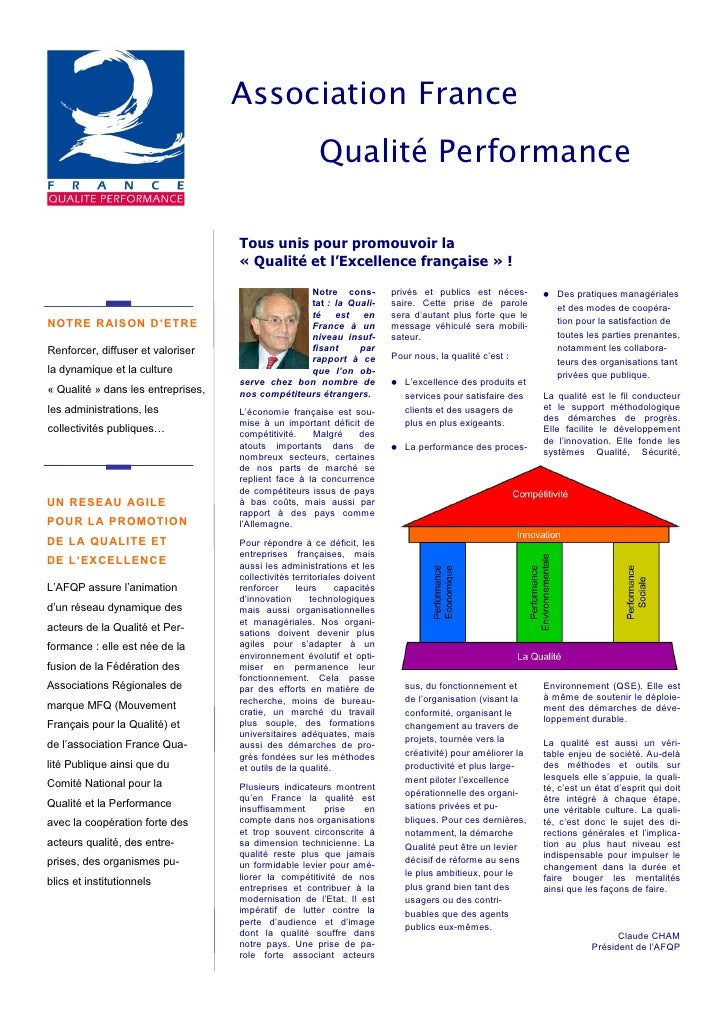 Association France                                                        Qualité Performance                             ...