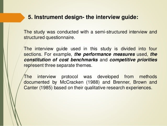A framework for the analysis of interview data from for Qualitative research interview protocol template