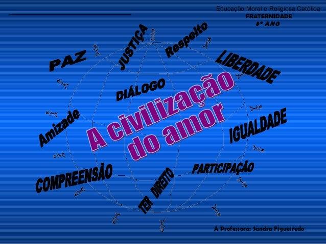 Educação Moral e Religiosa Católica         FRATERNIDADE            5º ANOA Professora: Sandra Figueiredo
