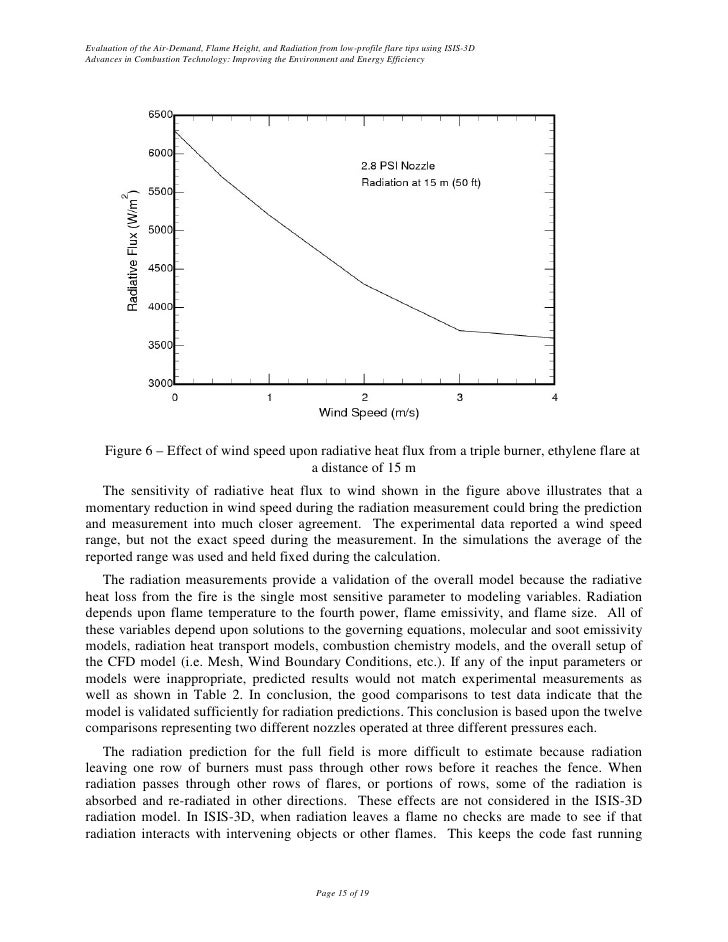 Evaluation of the Air-Demand, Flame Height, and Radiation from low-profile flare tips using ISIS-3D Advances in Combustion...