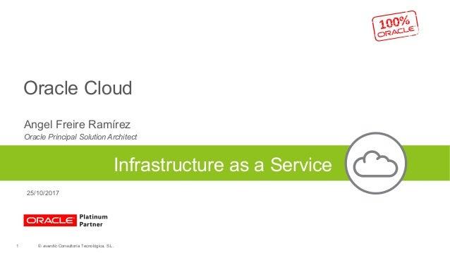 Oracle Cloud Angel Freire Ramírez Oracle Principal Solution Architect Infrastructure as a Service © avanttic Consultoría T...