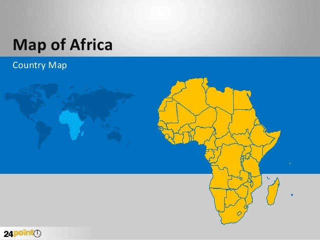 Map of Africa Country Map