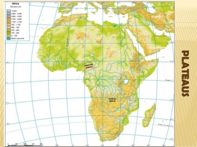 Katanga Plateau On Africa Map Africa Physical map