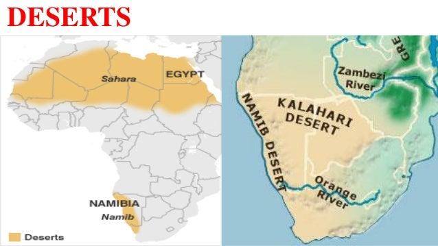 Africa Map Namib Desert.Africa