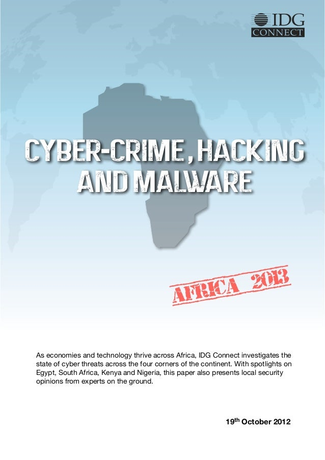 CYBER-CRIME , HACKING   AND MALWARE                                                   2013                                ...