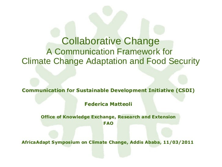 Collaborative Change A Communication Framework for  Climate Change Adaptation and Food Security Communication for Sustaina...