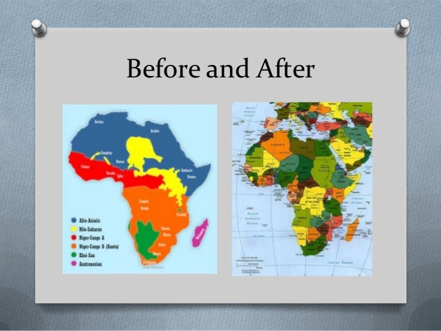 africa map before and after imperialism