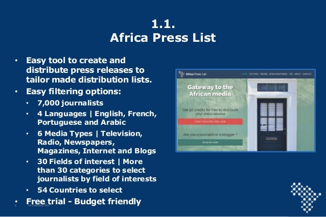 Africa Business Communities press services