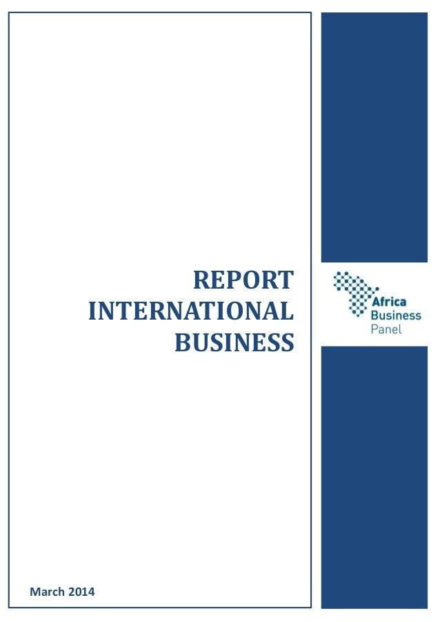 REPORT INTERNATIONAL BUSINESS March 2014
