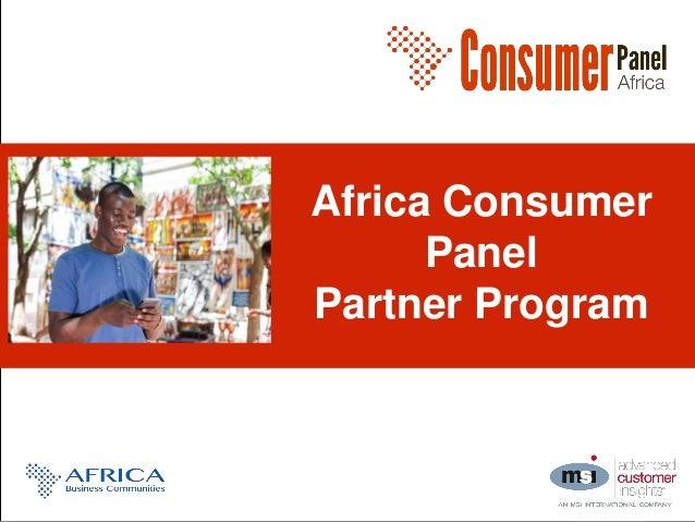 Africa Consumer Panel Partner Program