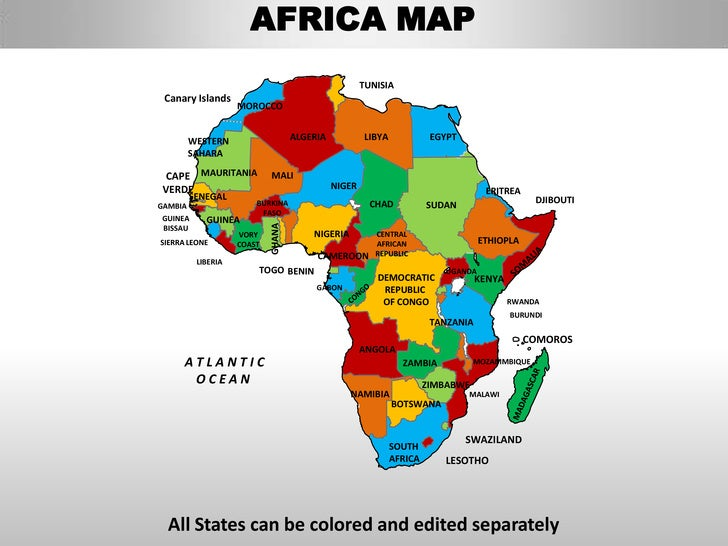 africa map colored