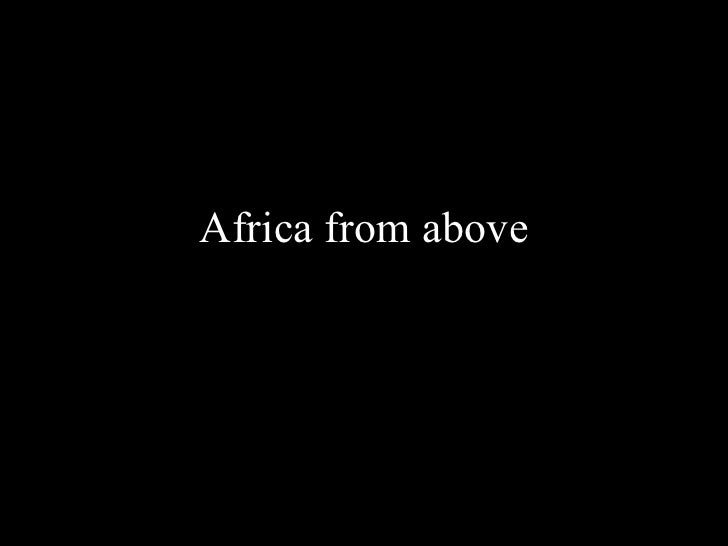 Africa from above