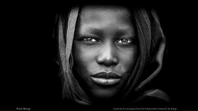 A portrait of a young boy from the Turkana tribe in Kenya © Joe Buergi
