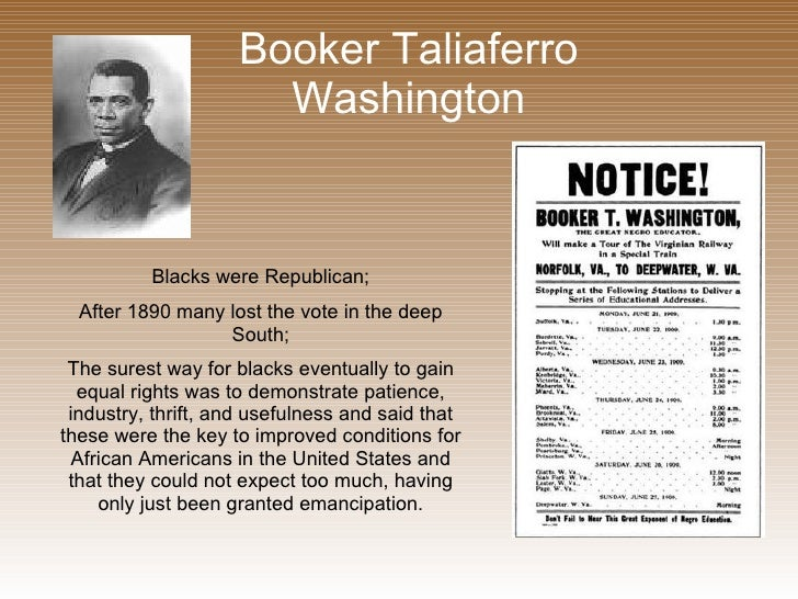 an analysis of booker t washington and his contribution for african americans Robert r taylor and tuskegee interweaves the life of the first academically trained african american architect with his life's work — the campus of booker t.
