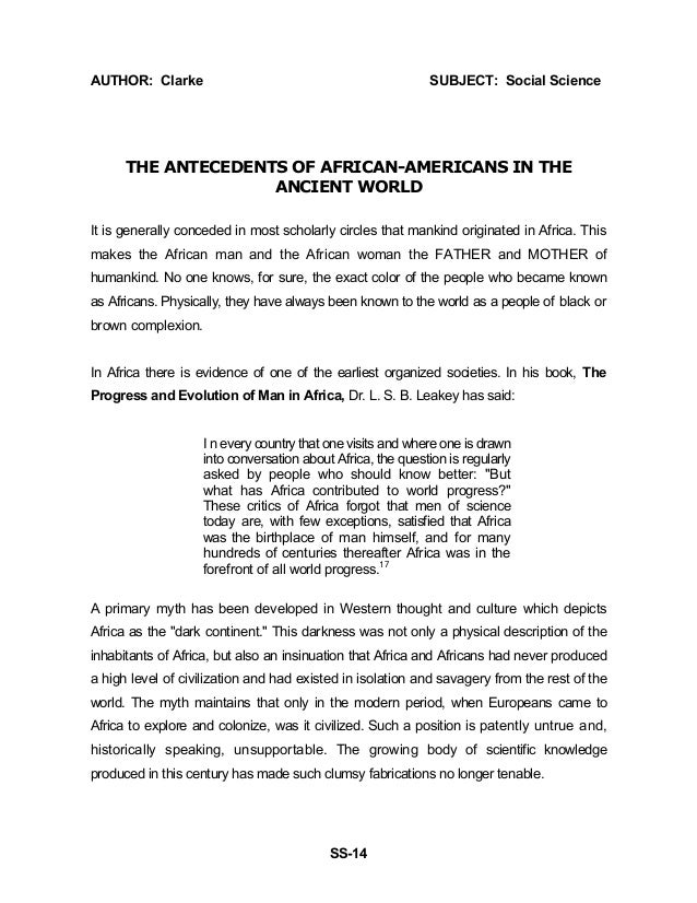 African psychology essay