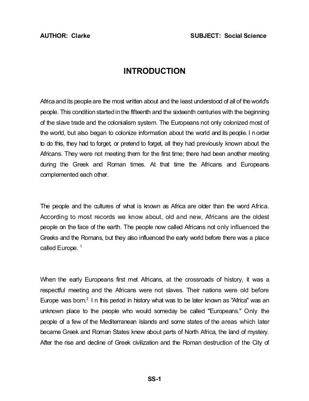 africa essay or dissertation ideas