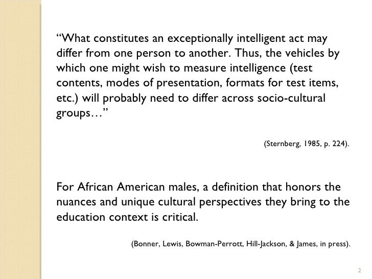 perception of the african american males 2 essay African american male students' perceptions of factors that contribute to their academic success by gertrude rolland (under the direction of cordelia zinskie.