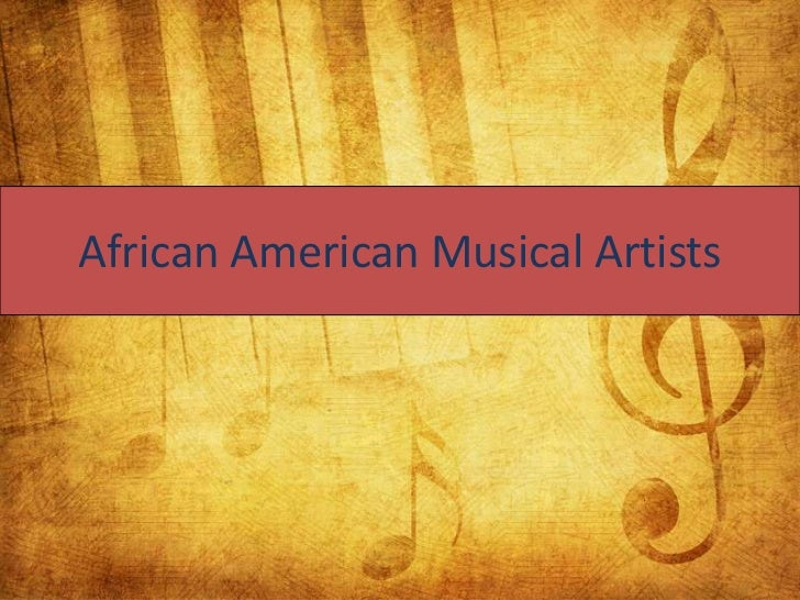 African American Musical Artists