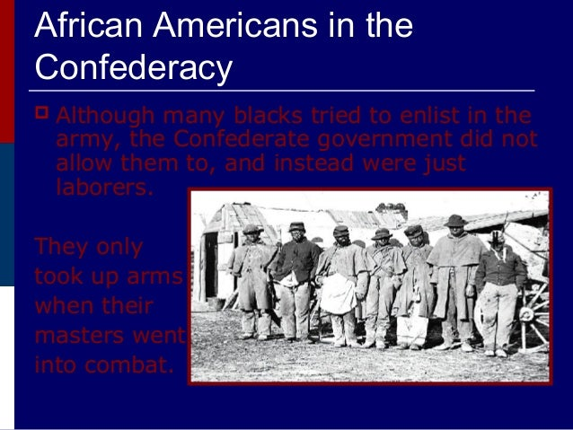 african americans in the civil war 2 essay Module 07: did world war ii advance minorities, women, and the poor  conclusion world war ii created new opportunities for women, african  americans, and  thus laying the groundwork for the civil rights and feminist  movements later to.