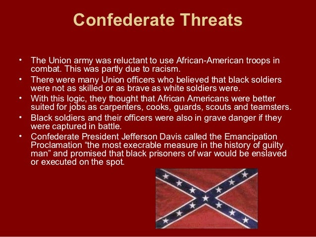 african americans in civil war Abraham lincoln's election led to secession and secession to war when the union soldiers entered the south, thousands of african americans fled from their.