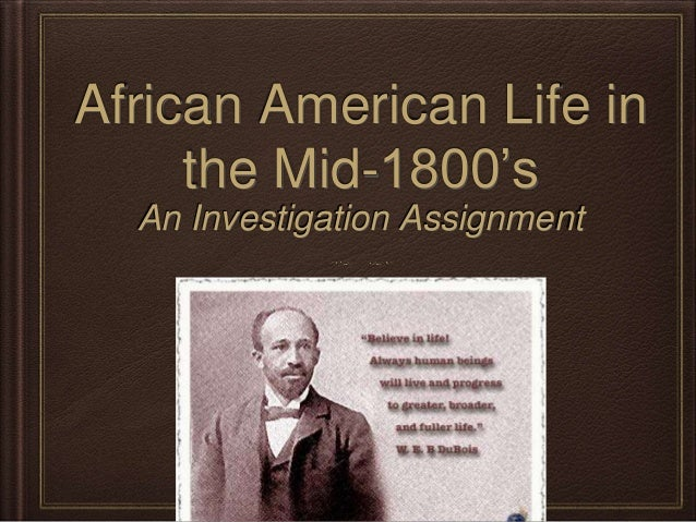 african americans in the mid 1800 s