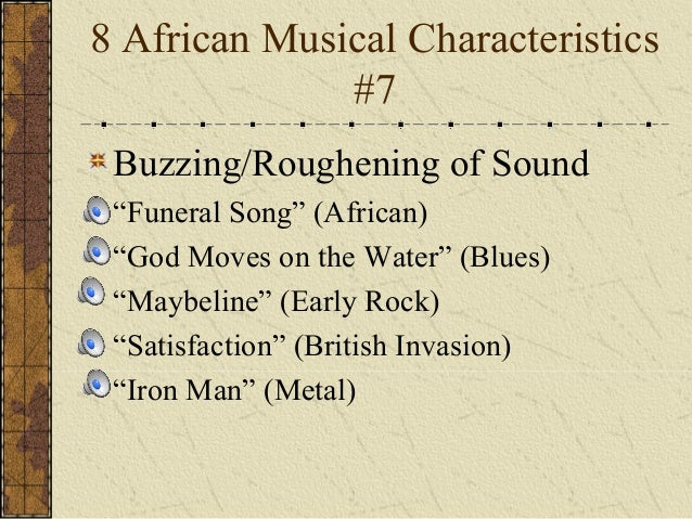 what are the main features of blues music